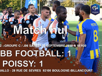 National 2 - L'ACBB football et l'AS Poissy se séparent sur un nul