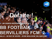 National 3 / J9: L'ACBB football tombe face au FCM Aubervilliers